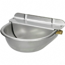 Drinking bowl with float valve